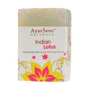 Buy Herbal AyurSens Indian Lotus Bathing Bar - Nykaa