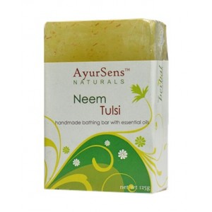 Buy AyurSens Neem Tulsi Bathing Bar - Nykaa