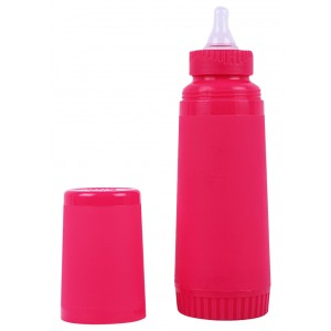 Buy FARLIN Un-Breakable Insulated Feeding Bottle 250 CC (Pink) - Nykaa