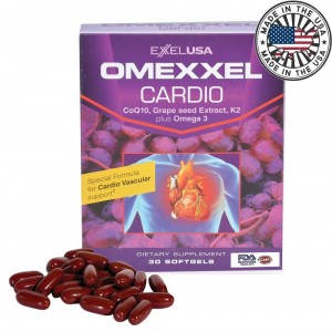 Buy ExxelUSA Omexxel Cardio (Coq10, Grape Seed Extract 95%Opc, K2 Plus Omega 3) - Nykaa