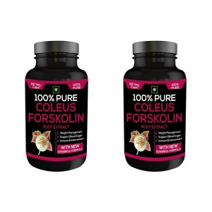 Buy Nutravigour 100% Pure Coleus Forskolin 20% Extract 500mg 2x60 Veg Capsules Weight Management Supplement - Pack Of 2 - Nykaa