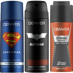 Buy Denver Superman Strength, Batman Knight Warrior and Extreme Balance (Pack of 3) - Nykaa