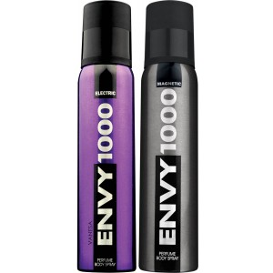 Buy Envy 1000 Electric & Magnetic Deodorant Combo (Pack of 2) - Nykaa