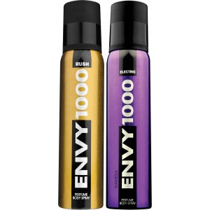 Buy Envy 1000 Rush & Electric Deodorant Combo (Pack of 2) - Nykaa