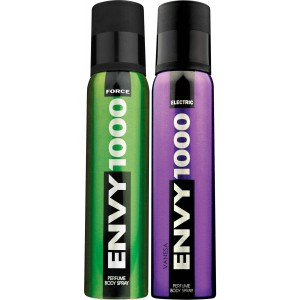 Buy Herbal Envy 1000 Force & Electric Deodorant Combo (Pack of 2) - Nykaa