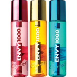 Buy Envy 1000 Enigma, Divine & Magic Crystal Deodorant Combo (Pack of 3) - Nykaa