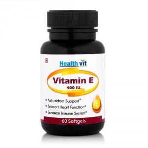 Buy HealthVit Vitamin E 400IU - 60 Softgel - Nykaa