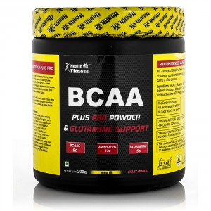 Buy HealthVit BCAA Plus Pro Powder & Glutamine Support (Fruit Punch Flavour) - Nykaa