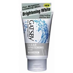 Buy Gatsby Face Wash Clear Whitening Foam - Nykaa