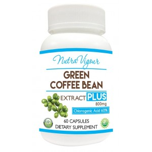 Buy Nutravigour Green Coffee Extract Chlorogenic Acid (GCA) Plus 60% Chlorogenic Acid 60 Veg Capsules 800mg - Nykaa