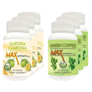 Buy Herbal Nutravigour Garcinia Cambogia Max 85% HCA Extract 800mg Veggie 90 Capsules With Green Coffee Max Extract Chlorogenic Acid (GCA) 800mg Vegetarian 90 Capsules - Pack Of 6 - Nykaa