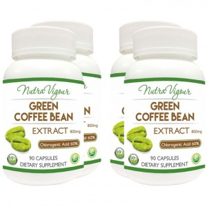 Buy Herbal Nutravigour Organic Green Coffee Bean Extract 60% GCA Weight Loss - 90 Capsules 800mg - Pack Of 4 - Nykaa