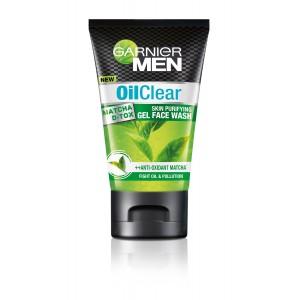 Buy Garnier Men Oil Clear Matcha D-Tox Gel Face Wash - Nykaa