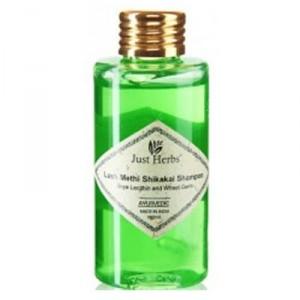 Buy Just Herbs Lush Methi Shikakai Shampoo - Nykaa