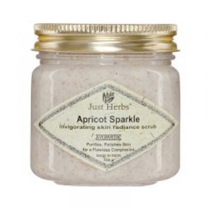 Buy Herbal Just Herbs Apricot Sparkle Invigorating Skin Radiance Scrub - Nykaa