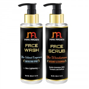 Buy Man Arden Face Wash (The Island Emperor) + Face Scrub (The Woodsman) - Nykaa