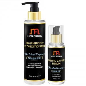 Buy Man Arden Shampoo & Conditioner + Hair Serum (The Island Emperor Kit) - Nykaa