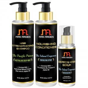 Buy Man Arden Hair Strengthening Shampoo + Hair Conditioner + Hair Serum (The Island Emperor Kit) - Nykaa