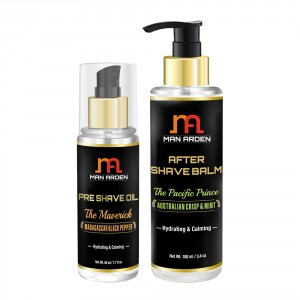Buy Man Arden Pre Shave Oil (The Maverick) + After Shave Balm (The Pacific Prince) - Nykaa