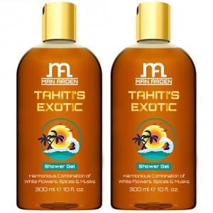 Buy Man Arden Tahiti's Exotic Luxury Shower Gel (Pack of 2) - Nykaa