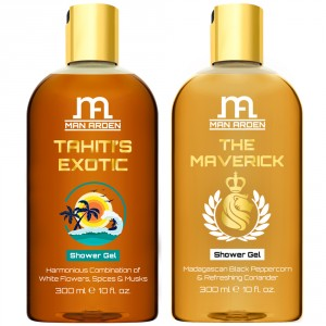 Buy Man Arden Tahiti's Exotic + The Maverick Luxury Shower Gel - Nykaa