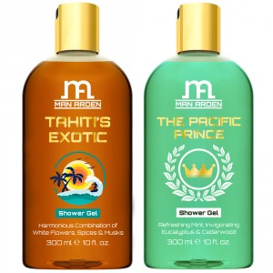 Buy Man Arden Tahiti's Exotic + The Pacific Prince Luxury Shower Gel - Nykaa