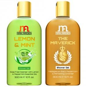 Buy Man Arden Lemon & Mint + The Maverick Luxury Shower Gel - Nykaa
