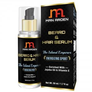 Buy Man Arden Beard & Hair Serum - The Island Emperor - Nykaa