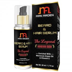 Buy Man Arden Beard & Hair Serum - The Legend - Nykaa