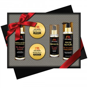 Buy Man Arden Feisty Gentlemen Luxury Men's Beard Grooming Gift Set - Nykaa