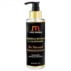 Buy Man Arden Beard Wash Shampoo & Conditioner - The Maverick - Nykaa