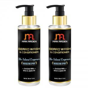 Buy Man Arden Beard Wash Shampoo & Conditioner - The Island Emperor (Pack of 2) - Nykaa