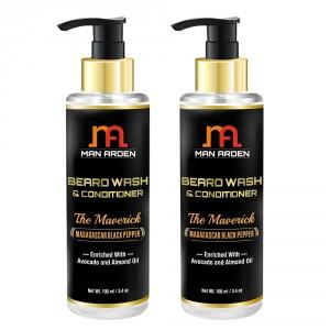 Buy Man Arden Beard Wash Shampoo & Conditioner - The Maverick (Pack of 2) - Nykaa