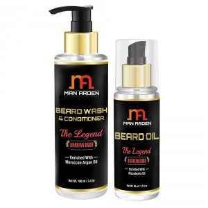 Buy Man Arden Beard Wash Shampoo + Beard Oil (The Legend Kit) - Nykaa