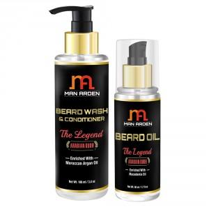 Buy Man Arden Beard Wash Shampoo + Beard Oil (The Legend Kit) - Nykaa