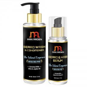 Buy Man Arden Beard Wash Shampoo + Beard Serum (The Island Emperor Kit) - Nykaa
