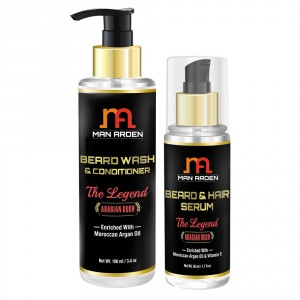 Buy Man Arden Beard Wash Shampoo + Beard Serum (The Legend Kit) - Nykaa