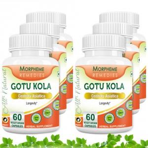 Buy Morpheme Gotu Kola 500mg Extract - 60 Veg Caps. x 6 - Nykaa