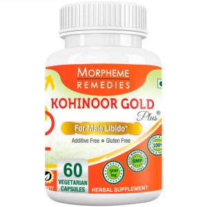 Buy Herbal Morpheme Kohinoor Gold Plus 500mg Extracts - 60 Veg Caps. - Nykaa
