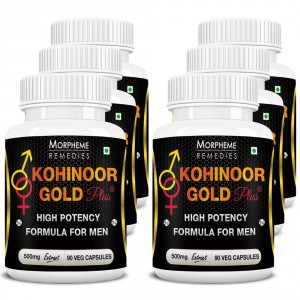 Buy Morpheme Kohinoor Gold Plus 500mg Extract - 90 Veg Caps. x 6 - Nykaa