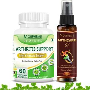 Buy Morpheme Arthcare Oil Spray + Arthritis Support - Nykaa