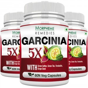 Buy Morpheme Remedies Garcinia 5X - Garcinia, Coffee, Green Tea, Forskolin, Grape Seed - 3 Bottles - Nykaa