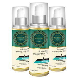 Buy Morpheme Advanced Therapy Hair Oil (Anti Hair Fall, Hair Loss & Hair Repair) 3 Bottles - Nykaa