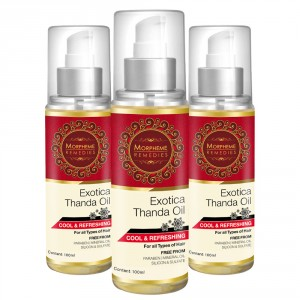 Buy Morpheme Exotica Thanda Hair Oil - 3 Bottles - Nykaa