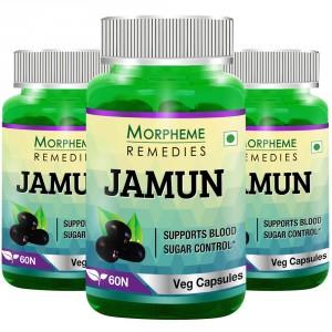 Buy Morpheme Jamun 500mg Extract - 60 Veg Caps (3 Bottles) - Nykaa