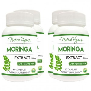 Buy Nutravigour Organic Moringa Extract Dietary Supplement - Veg 60 Capsules - Pack Of 4 - Nykaa