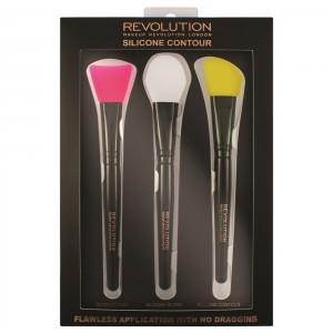 Buy Makeup Revolution Silicone Contour Brush Set - Nykaa