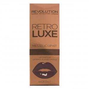 Buy Makeup Revolution Retro Luxe Metallic Lip Kit - Nykaa
