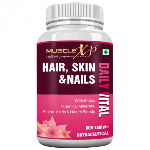 Buy MuscleXP Biotin Hair, Skin & Nails Complete MultiVitamin - 60 Tablets - Nykaa