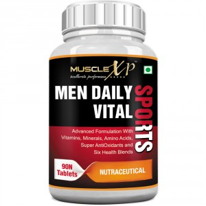 Buy Herbal MuscleXP Men Daily Vital Sports MultiVitamin (6 Health Blends & Amino Acids) - Nykaa